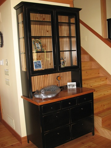 cabinet with glass