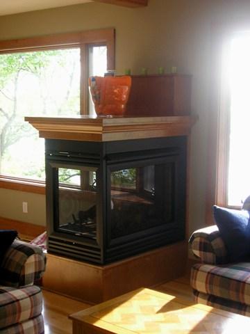 3 sided fireplace