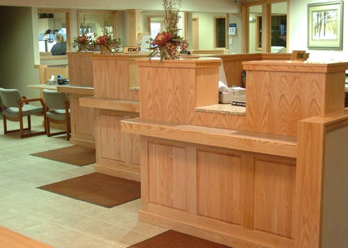 commercial desks and woodwork